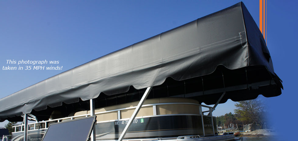 The bottom u201cBolt Tracku201d allows for easy canopy positioning on the lift for the ultimate ... & Boat Lift Canopies | Badger Docks and Lifts